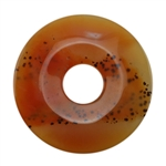 Glass Stone - Orange Pendant Round 43mm Pkg - 1