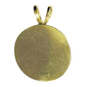 Gold-Plated Round Pendant