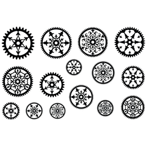 Jewel Stamps - Filigree Gears 2