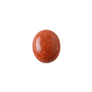 Goldstone Gemstone - Cabochon Oval 10x12mm - Pak of 1