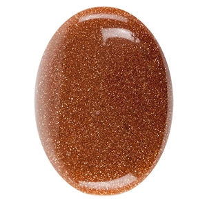Goldstone Gemstone - Cabochon Oval 30mm x 40mm Pkg - 1