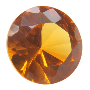 Lab Gemstone - Corundum Citrine - Round