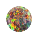 Imitation Red Opal Gemstone - Cabochon Round 4mm - Pak of 2