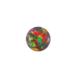 Imitation Red Opal Gemstone - Cabochon Round 5mm - Pak of 1
