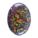 Imitation Red Opal Gemstone - Cabochon Oval 13x18mm - Pak of 1