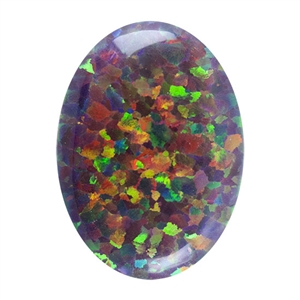 Imitation Red Opal Gemstone - Cabochon Oval 13mm x 18mm Pkg - 1