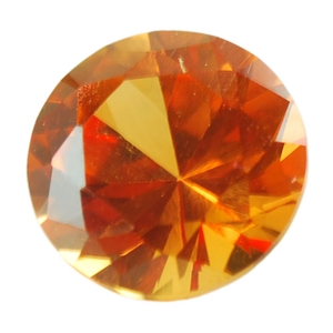 Lab Corundum Topaz: Round 4mm - Pak of 1