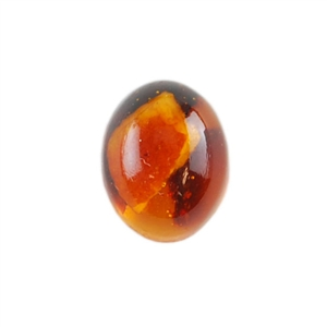 Amber Gemstone - Cabochon Oval 8x10mm - Pak of 1