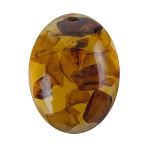 Amber Gemstone - Cabochon Oval 10x12mm - Pak of 1