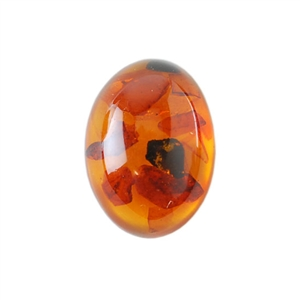 Amber Gemstone - Cabochon Oval 13x18mm - Pak of 1