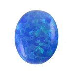 Imitation Peacock Opal Gemstone - Cabochon Oval 8x10mm - Pak of 1