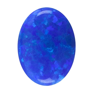 Imitation Peacock Opal Gemstone - Cabochon Oval 6x8mm - Pak of 1