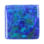 Lab Gemstone - Opal Blue/Green - Square 6mm Pkg - 2