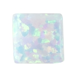 Imitation White Opal - Square 6mm Pkg - 2