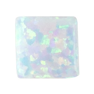 Imitation White Opal - Square 6mm