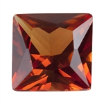 Lab Gemstone - Corundum Citrine - Square