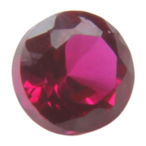 Lab Ruby: Round 5mm - Pak of 5