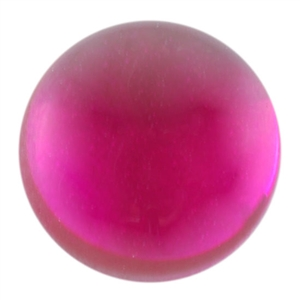 Lab Ruby: Cabochon - Round 6mm - Pak of 2