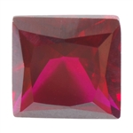 Lab Ruby Dark: Square 6x6mm - Pak of 1