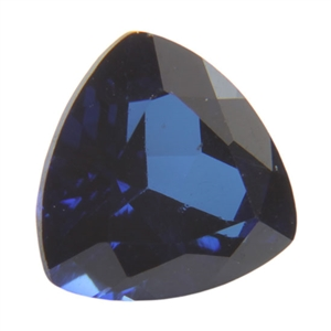 Lab Sapphire:Trillion 4x4mm - Pak of 1