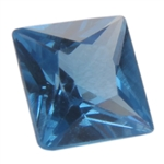 Lab Blue Spinel: Square 4x4mm - Pak of 2