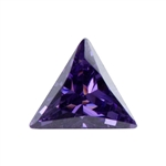 Lab Gemstone - Amethyst - Triangle 4mm - Pkg - 4
