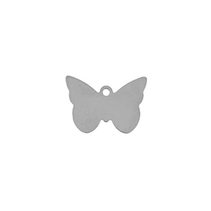 Sterling Silver Shape - Butterfly - 15mm x 21mm Pkg - 2