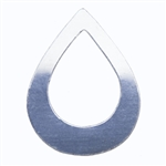 Sterling Silver Shape - Drop - 23mm x 30mm Pkg - 2