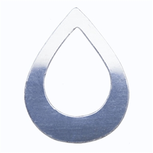 Sterling Silver Shape - Drop - 24x34.5mm