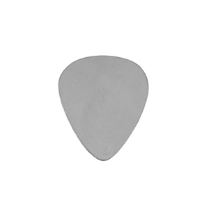 Sterling Silver Shape - Guitar Pick - 25mm x 30mm Pkg - 1