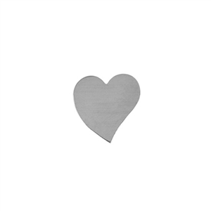 Sterling Silver Shape - Heart - 16mm x 16.5mm Pkg - 4