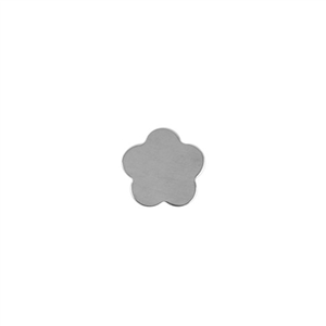 Sterling Silver Shape - Flower - 10.5mm Pkg - 4