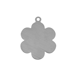 Sterling Silver Shape - Flower Pendant - 25x30.5mm