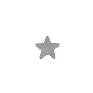 Sterling Silver Shape - Star - 12mm