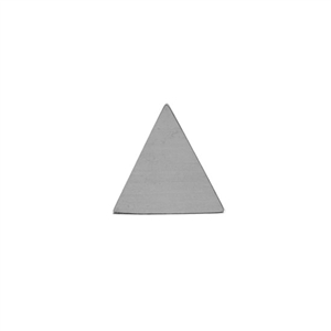 Sterling Silver Shape - Large Triangle - 18mm x 18.5mm Pkg - 4