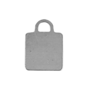 Sterling Silver Shape - Square Pendant - 8mm x 11mm Pkg - 4