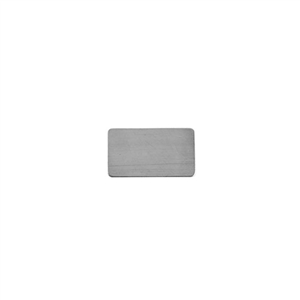 Sterling Silver Shape - Rectangle - 9mm x 15mm Pkg - 4