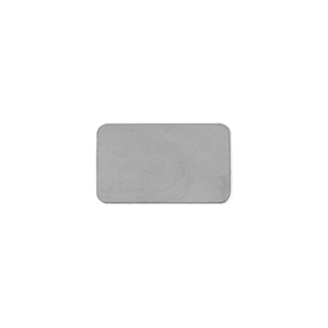 Sterling Silver Shape - Rectangle - 14mm x 23mm Pkg - 2