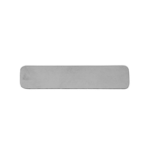 Sterling Silver Shape - Rectangle - 9.5mm x 45mm Pkg - 2