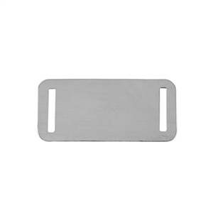 Sterling Silver Shape - Rectangle with Holes - 20x44mm