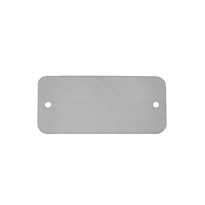 Sterling Silver Shape - Rectangle with Holes - 20mm x 44mm Pkg - 1
