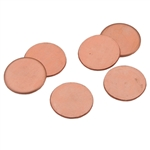 "Copper Shape - Disc - 1/2"" Pkg - 6"