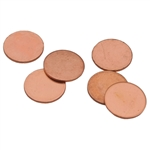 "Copper Shape - Disc - 3/8"" Pkg - 6"