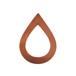 Copper Shape - Large Drop - 34mm x 47mm Pkg - 10