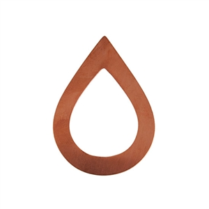 Copper Shape - Large Drop - 34 x 47mm