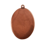 Antique Copper Plate Shape - Oval Pendant - 22mm x 30mm Pkg - 4