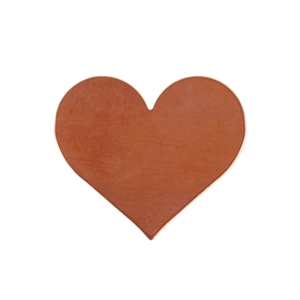 Copper Shape - Heart - 17mm x 19.5mm Pkg - 10