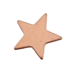 "Copper Shape - Star - 7/8"" Pkg - 6"