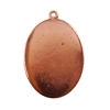 Copper Plate Shape - Oval Pendant - 22mm x 30mm