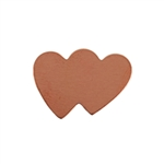 Copper Shape - Double Hearts - 14 x 19.5mm